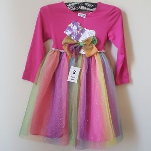 Blueberi girl dress with bow
